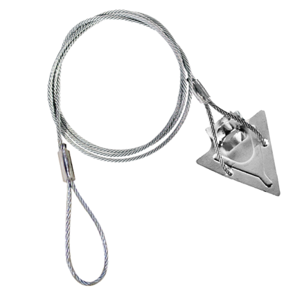 3st 36at 3 Inch Steel Arrowhead With 36 Inch Cable And
