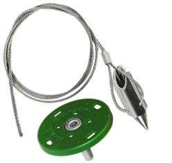 (3AL-36QV-Disk) 3-inch bullet with 36-inch cable and surface disk
