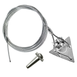 (3ST-120QV) 3-inch steel arrowhead with 120-inch cable and Quickvise