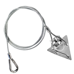 (3ST-36TH) 3-inch steel arrowhead with 36-inch cable and thimble loop