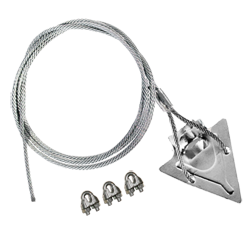 (3ST-60CC) 3-inch steel arrowhead with 60-inch cable and cable clamps