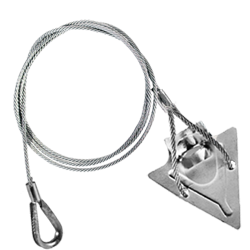 (4ST-48TH) 4-inch steel arrowhead with 48-inch cable and thimble loop