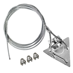 (4ST-60CC) 4-inch steel arrowhead with 60-inch cable and 3 cable clamps