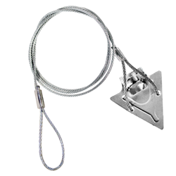 (4ST-48AT) 4-inch steel arrowhead with 48-inch cable and anti-theft loop