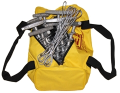 (PE-T9-TC-B12) 9-inch Penetrator anchor with T-handle and tie-off cable-Set of 12 with storage bag