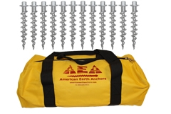 (PE10-B12) 10-inch Penetrator anchor with hex head — Set of 12 with storage bag