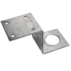 Penetrator Z bracket for securing 4x4 lumber