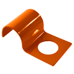 "Penetrator bracket for securing 2"" or smaller pipe - Safety orange"