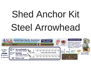 Shed Anchor Kit - Steel Arrowhead
