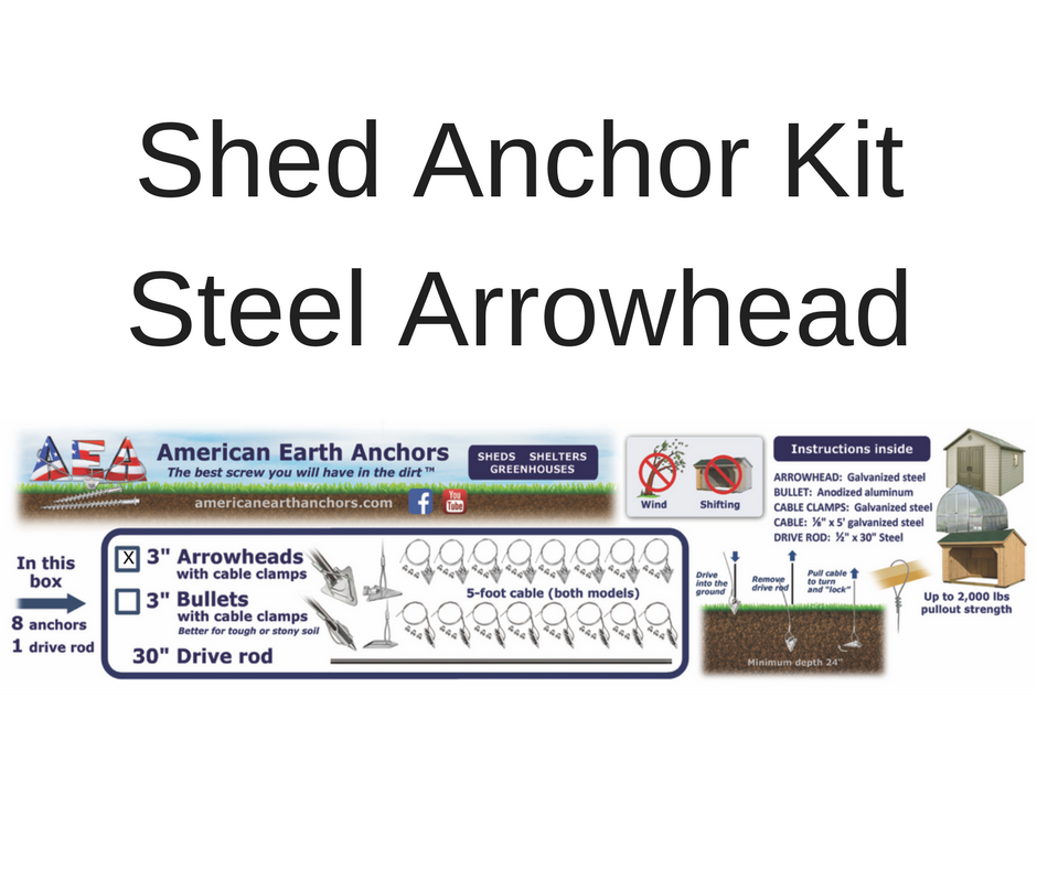 Shed Anchor Kit - Steel Arrowhead  sc 1 st  American Earth Anchors Store - AmeriCommerce & Anchors for Securing Sheds
