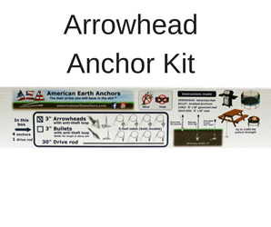 Anti-Theft Anchor Kit - Steel Arrowhead