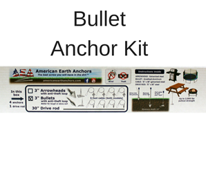 Anti-Theft Anchor Kit - Aluminum Bullet