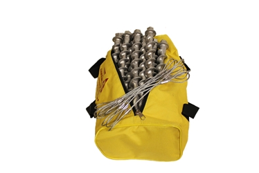 (PE9-TC-B12) 9-inch Penetrator anchor with hex head and tie-off cable-Set of 12 with storage bag